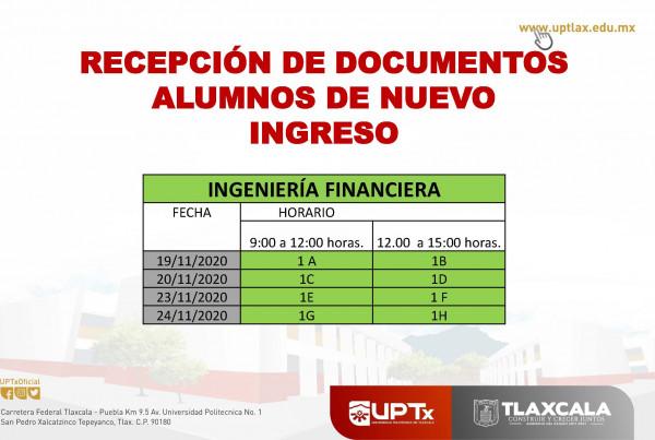 Recepción de documentos_Financiera