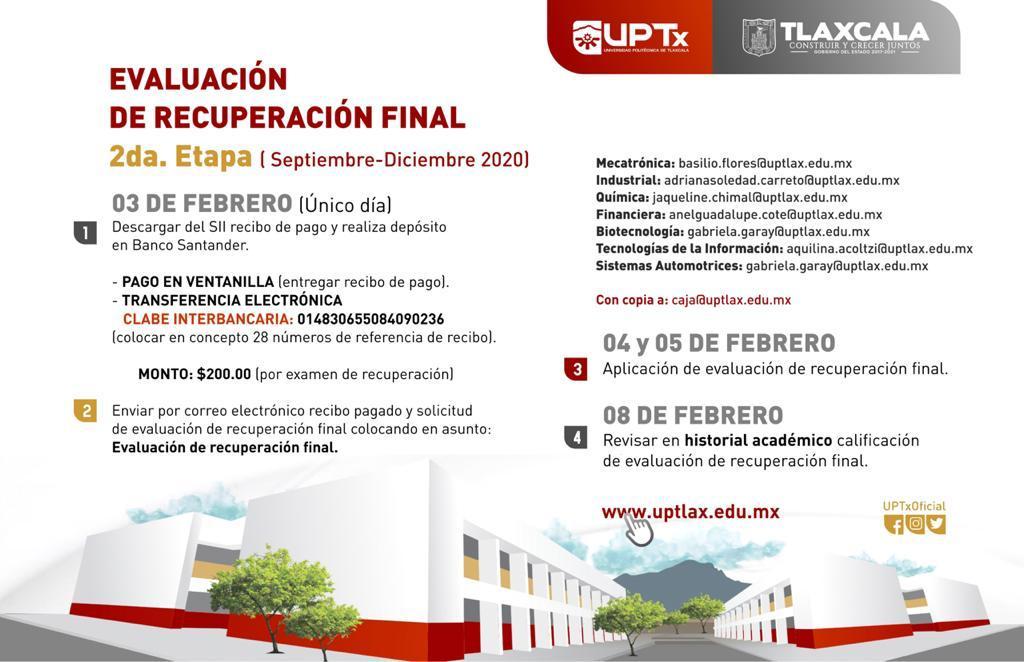 EVALUACIÓN DE RECUPERACIÓN FINAL