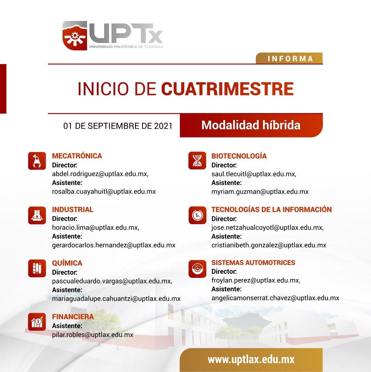 PUBLICACIÓN DE LISTAS DE INICIO  DE CUATRIMESTRE
