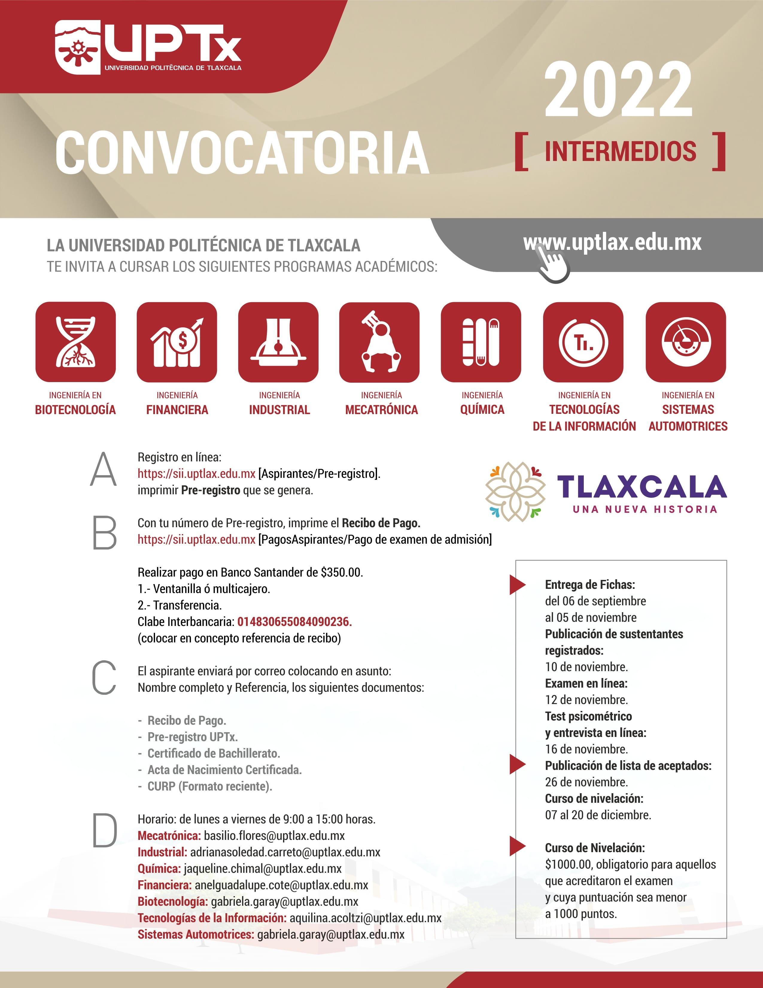 Convocatoria Intermedios 2022