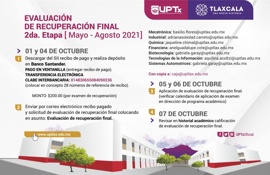 Evaluación de Recuperación Final 2da etapa Mayo-Agosto 2021-min